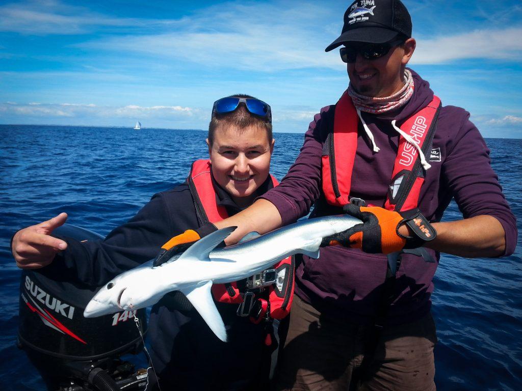 1er requin pour corentin - Lorient Passion Peche