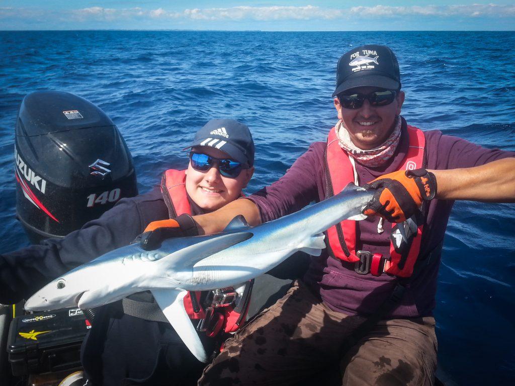 requin peau bleue pour Corentin - Lorient Passion Peche