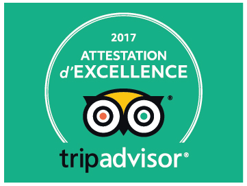 TRIP ADVISOR 2017 attestation excellence