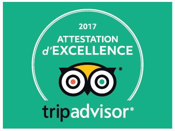 TRIP ADVISOR 2017 attestation excellence